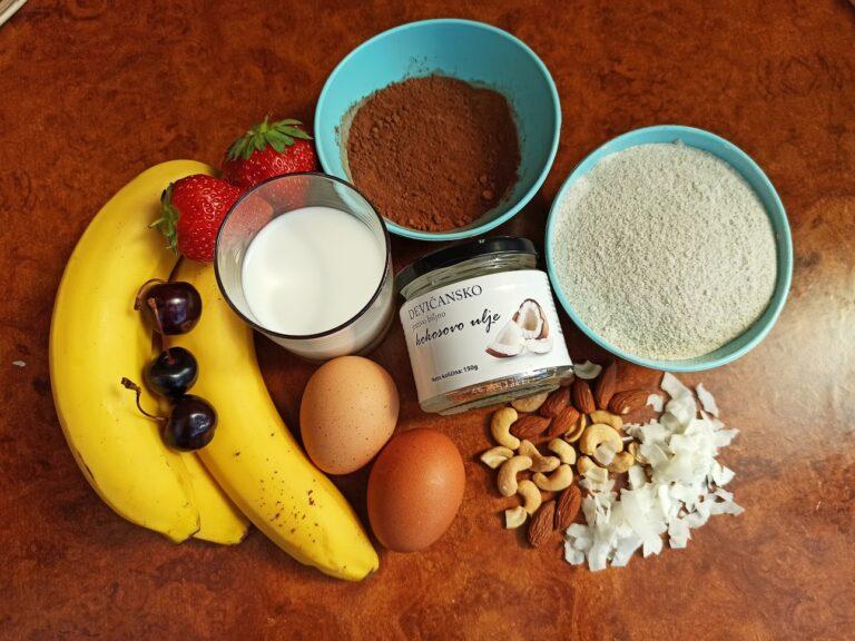 zdravi čokoladni banana mafin kako se pravi